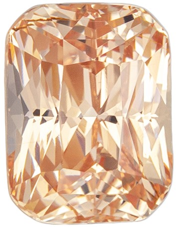 Loose Natural Peach Sapphire Genuine Gemstone, 2.08 carats, Cushion Cut, 7.4 x 5.57 x 5.01 mm mm , Super Fine Stone