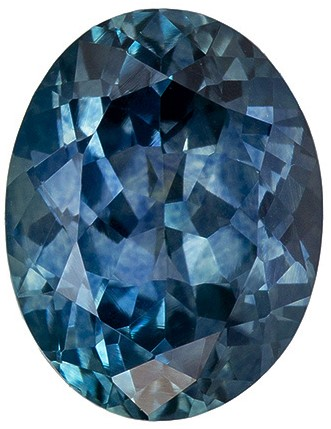 Very Attractive 2.09 Carats Blue Green Sapphire Oval Cut, Teal Color in 8.6 x 5.6mm Size