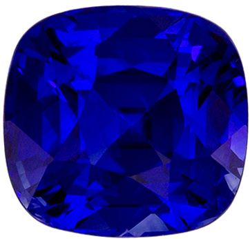 Classic 2.09 carats Blue Sapphire Cushion Genuine Gemstone, 6.9 x 6.5 mm