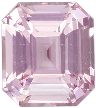 Attractive No Heat GIA Certified Sapphire Natural Gem, 2.09 carats, Pink Orange Peach, Emerald Cut, 7.35 x 6.51 x 4.54 mm