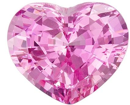 2.09 carat Loose Pink Spinel Heart Cut gemstone, Baby Pink Color in 8.3 x 7.0  mm