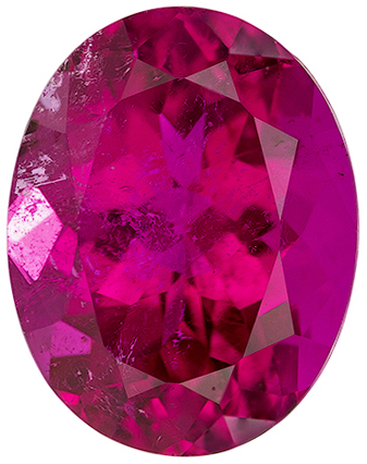 2.1 carats Rubellite Tourmaline Loose Gemstone in Oval Cut, Vivid Rich Fuchsia, 8.9 x 7 mm