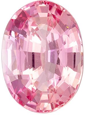 Fine Quality 2.1 carats Peach Sapphire Oval Genuine Gemstone, 9 x 6.6 mm
