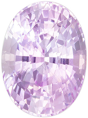Lovely Rare No Heat GIA Certified Sapphire Genuine Gem, 2.1 carats, Icy Baby Pink, Oval Cut, 8.77 x 6.45 x 4.87 mm