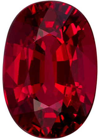 Fiery 2.1 carat Red Ruby GIA Certified Gemstone in Oval Cut 8.97 x 6.15 x 4.31 mm