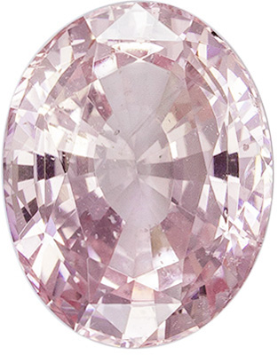 Lovely No Treatment Oval Cut Peach Sapphire Loose Gem, 8.48 x 6.62 x 4.39 mm, Medium Light Peach Color, 2.11 carats, GIA Certified