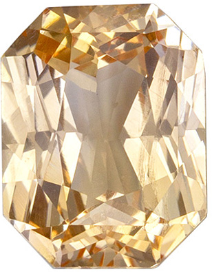 Highly Requested Unheated GIA Certified Sapphire Quality Gem, 8.33 x 6.45 x 4.07 mm, Orangey Peach, Radiant Cut, 2.11 carats