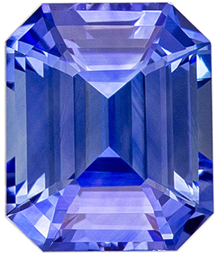 Natural Loose 2.12 carats Blue Sapphire Emerald Genuine Gemstone, 7.5 x 6.3 mm