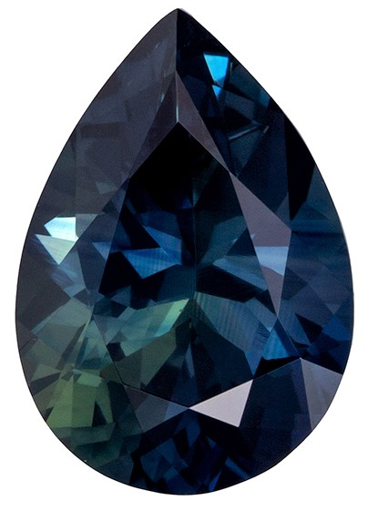 Great Buy GIA No Treatment Blue Green Sapphire Gemstone 2.13 carats, Pear Cut, 9.86 x 6.93 x 4.71 mm