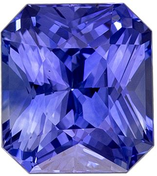 Classic 2.13 carats Blue Sapphire Radiant Genuine Gemstone, 7.3 x 6.5 mm