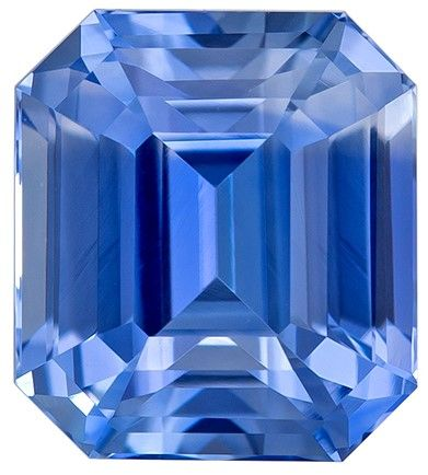 Quality Blue Sapphire Gemstone, 2.14 carats, Emerald Cut, 7 x 6.3 mm, Great Looking Stone