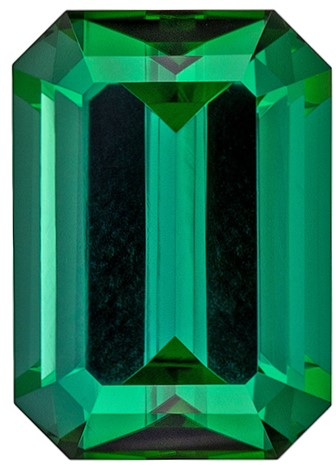 Natural Blue Green Tourmaline Loose Gem, 2.15 carats, Emerald Cut, 8.7 x 6.2  mm , Top Top Gem - Low Cost