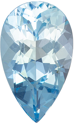 Popular 2.16 carats Blue Aquamarine Pear Genuine Gemstone, 12.1 x 7.3 mm