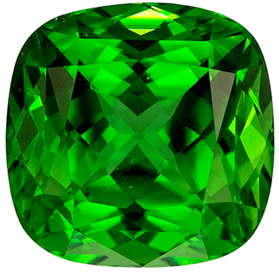 So Pretty 2.16 carats Chrome Tourmaline Cushion Genuine Gemstone, 7.6 mm