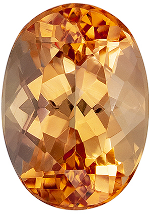 Exciting 2.16 carat Imperial Topaz Gemstone in Oval Cut 8.9 x 6.3 mm