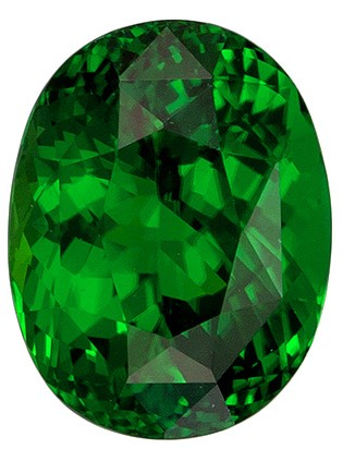 Classic Chrome Tourmaline 2.17 carats, Oval shape gemstone, 8.8 x 6.8  mm