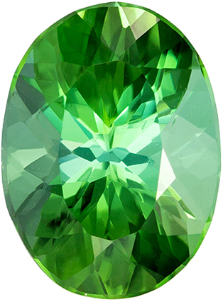 Must See 2.17 carat Green Tourmaline Gemstone in Oval Cut 9.9 x 7.3 mm
