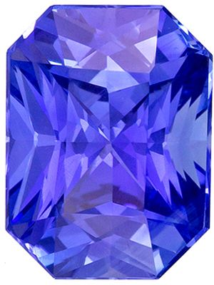 Beautiful 2.2 carats Blue Sapphire Radiant Genuine Gemstone, 8.55 x 6.38 x 4.68 mm