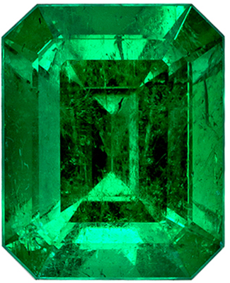 Lovely GIA Certified Emerald Loose Gem, 2.2 carats, Rich Green, Emerald Cut, 8.84 x 7.15 x 5.2 mm