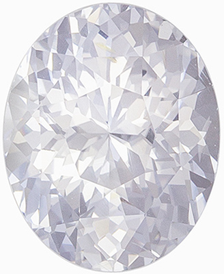Diamond Looking Untreated Oval Shape White Sapphire Gem, 2.21 carats, Very Colorless White, 8.57 x 6.91 x 5.12 mm, GIA Certified