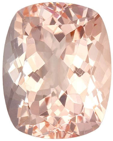 Great Deal on Pink Morganite Genuine Stone, 2.22 carats, Cushion Cut, 9.1 x 7.2  mm , Amazing Color Low Price