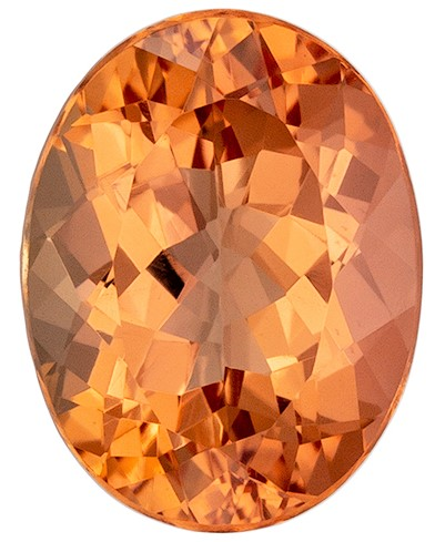 Genuine Imperial Topaz Faceted Gem, 2.23 carats, Oval Cut, 9 x 6.9  mm , Super Low Price
