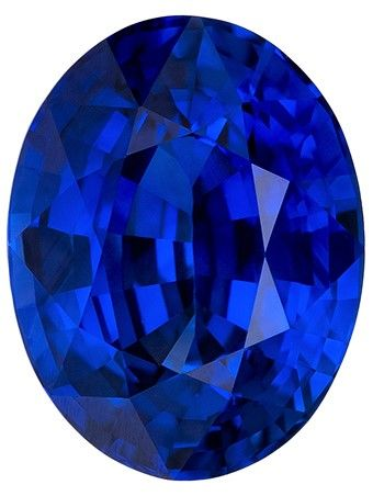 Genuine Blue Sapphire Gemstone, 2.24 carats, Oval Cut, 8.5 x 6.6 mm, Must See This Gem