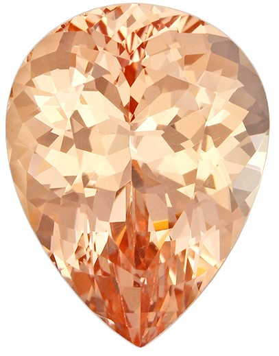 Great Deal on Peach Garnet Genuine Stone, 2.25 carats, Pear Cut, 9.3 x 7.1  mm , Great Low Price