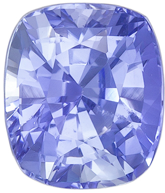 Delicate Look No Heat Cushion Cut Blue Sapphire Loose Gem, 7.44 x 6.4 x 5.28 mm, Vivid Cornflower Blue, 2.26 carats, GIA Certified
