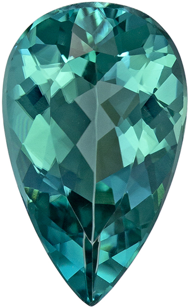 Exciting 2.26 carat Blue Tourmaline Gemstone in Pear Cut 12.2 x 7.4 mm