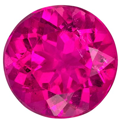 Loose Natural Pink Tourmaline Loose Gem, 2.26 carats, Round Cut, 8.5 mm , Must See This Gemstone