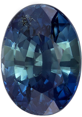 Good Looking GIA Certified Sapphire Quality Gem, 8.55 x 6.21 x 4.92 mm, Blue Green, Oval Cut, 2.27 carats