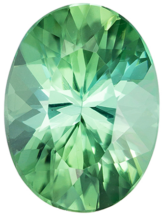 Must See 2.27 carat Green Tourmaline Gemstone in Oval Cut 10.3 x 7.6 mm