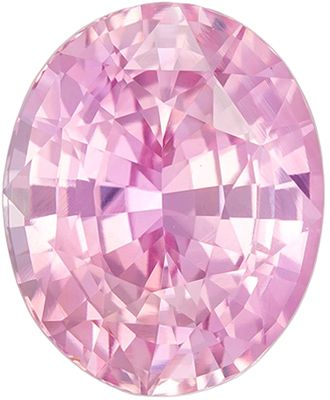 Desirable Untreated Peach Sapphire Genuine Loose Gemstone in Oval Cut, 2.27 carats, Orange Tinged Pink, 8.22 x 6.72 mm - GIA Certificate