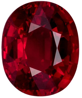 Loose Gemstone Rare No Heat GRS Ruby Gemstone 2.27 carat, Oval Cut, 8.42 x 6.83 x 4.46 mm