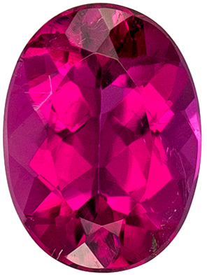 Natural Loose 2.28 carats Rubellite Tourmaline Oval Genuine Gemstone, 9.9 x 7.3 mm
