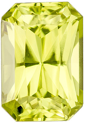 Great Price on 2.28 carat Yellow Chrysoberyl Gemstone in Radiant Cut 8.7 x 6 mm
