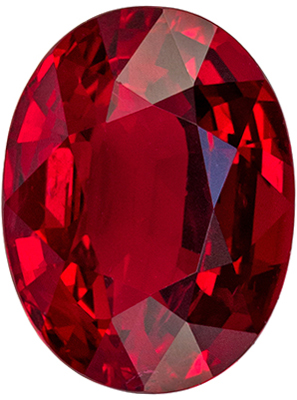 Gorgeous GIA Certified Ruby Genuine Gem, 8.94 x 6.77 x 4.34 mm, Pure Rich Red, Oval Cut, 2.29 carats