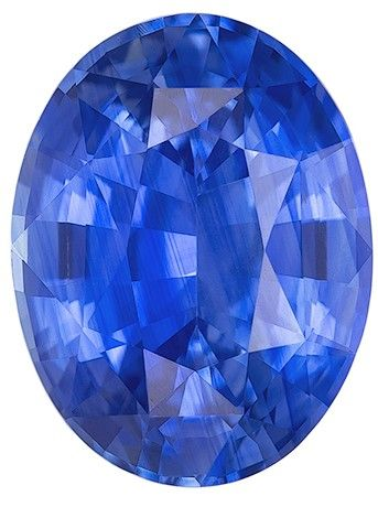 Loose Blue Sapphire Gemstone, 2.3 carats, Oval Cut, 9 x 6.9 mm, A Selected Gem