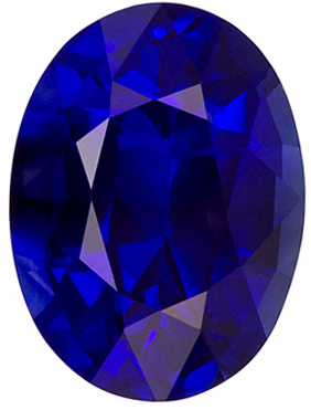 Very Fine Royal Blue Sapphire with GIA Cert. Unheated in 2.31 carat size, 9.0 x 6.7mm