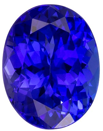 2.31 carats Tanzanite Loose Gemstone in Oval Cut, Rich Blue Purple, 9.1 x 7.1 mm