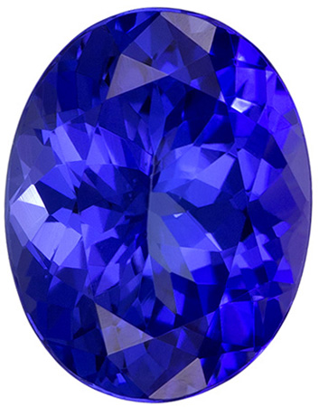 2.31 carats Tanzanite Loose Gemstone in Oval Cut, Rich Blue Purple, 9.3 x 7.3 mm