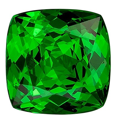 Gorgeous Gem in Tsavorite Garnet 2.31 carats, Cushion Cut, Fine Green Color Gemstone, 7.5  mm