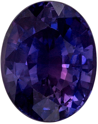 Attractive No Treatment GIA Certified Sapphire Loose Gem, 8.7 x 6.97 x 4.7 mm, Rich Violet Purple Oval Cut, 2.32 carats