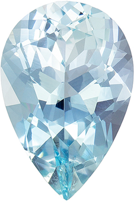 Wonderful Aquamarine Quality Gem, 11.7 x 7.8 mm, Medium Sky Blue, Pear Cut, 2.35 carats