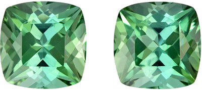 Very Pretty Quality 2.35 Carat Minty Blue Green Tourmaline Cushion Cut in Nice in 6.1mm Size