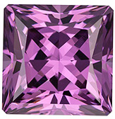 Fiery Gem in 2.35 carat Purple Spinel in Perfect Radiant Cut, 7.3mm