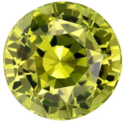 Heirloom Chrysoberyl Gemstone, 2.35 carats, Round Cut, 7.8 mm, A Beauty of a Gem