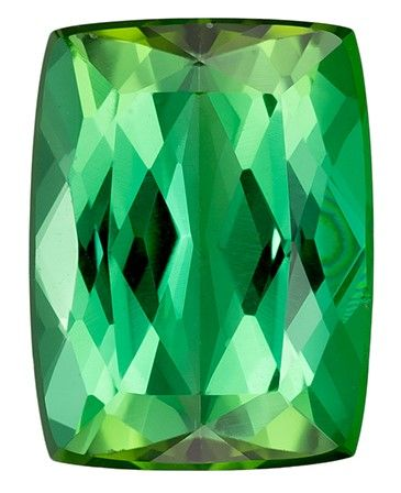 Genuine Blue Green Tourmaline Gemstone, 2.36 carats, Cushion Cut, 9.2 x 7 mm, A Highly Selected Gem