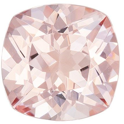 Faceted Morganite Gemstone, 2.36 carats, Cushion Cut, 8.9 mm, A Low Price